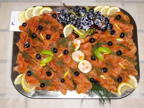 Fischplatten für Empfänge, Veranstaltungen und Präsentationen.